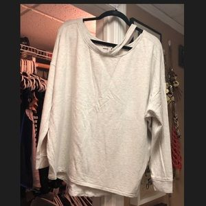 Express Oversized Swearshirt Top